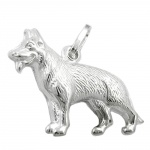 PENDANT, SHEEP-DOG, SILVER 925