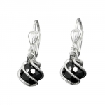 EARRINGS, LEVERBACK, CZ, SILVER 925