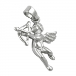 PENDANT, ANGEL & BOW, SILVER 925