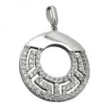 Pendant, Circle with Zirconia, Silver 925