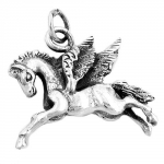 PENDANT, HORSE WITH WINGS, SILVER 925