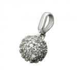 Pendant, Ball with Zirconia, Silver 925