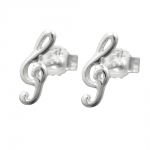 EARSTUDS, CLEF, SILVER 925