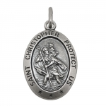 religious medal, Saint Christopher, 925