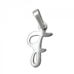 Pendant, Initial F, Silver 925