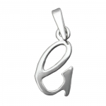 pendant, initiale G, silver 925