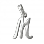 Pendant, Initial M, Silver 925