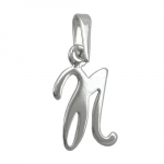 pendant, initiale N, silver 925
