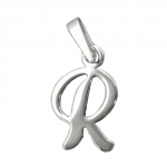 Pendant, Initial R, Silver 925