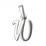 Pendant, Initial W, Silver 925