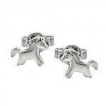 EARSTUDS, HORSES, SILVER 925