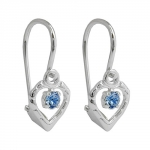 LEVERBACK EARRINGS, BLUE, SILVER 925