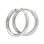 hoops, plain slim line, silver 925