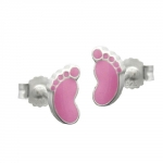 Studs foot pink pastell silver 925