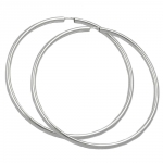 Hoop Earrings, 70mm, Silver 925