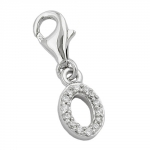 Pendant, Charm, Letter O, Silver 925