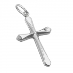 PENDANT, CROSS, SHINY, SILVER 925