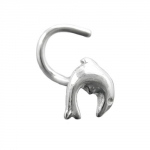 NOSE SCREW SPRINGING DOLPHIN, SILVER 925