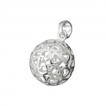 Pendant, filigree ball, 13 mm, silver 925