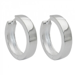 HOOP EARRINGS, HINGED, 17X4MM, SILVER 925