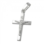 PENDANT, CRUCIFIX WITH JESUS, SILVER 925