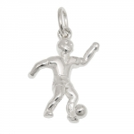 PENDANT, FOOTBALL PLAYER, SILVER 925