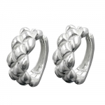 Hoop earrings matt/polished silver 925