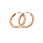 hoop earrings, redgold-plated silver 925