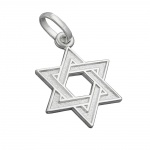 Pendant, Star of David, Silver 925