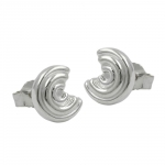 Stud Earrings, Round, Silver 925