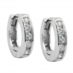 Hoop Earrings, Zirconia, Silver 925 - 92043