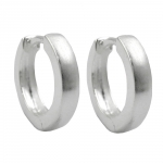 HOOP EARRINGS 13X3MM, SILVER 925