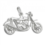 PENDANT, OLD MOTORCYCLE, SILVER 925
