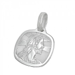 RELIGIOUS MEDAL, JESUS, SILVER 925