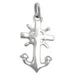 PENDANT, ANCHOR, NAUTICAL, SILVER 925