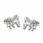 EARRINGS, HORSES, SILVER 925