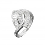 Ring, Many Zirconia Crystals, Silver 925