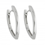 Hoop Earrings, Rhodium Plated, Silver 925
