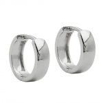 Hoop Earrings, 12mm x 4mm, Silver 925