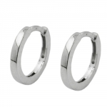 Hoop Earrings, 1.5mm, Silver 925