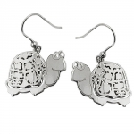 Hook Earrings, Tortoise, Silver 925