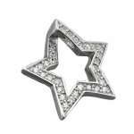 Pendant, Star with Zirconia, Silver 925