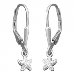 Leverback Earrings, Starfish, Silver 925