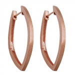 HOOP EARRINGS REDGOLD PLATED, SILVER 925