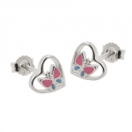 EARRINGS, STUDS, SILVER 925