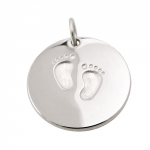pendant, round with feet, silver 925