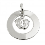 pendant, two feets, silver 925
