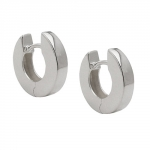 Hinged hoop earrings 13x3mm, silver 925