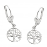 earrings, tree of life, silver 925