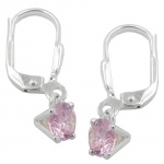 leverback earrings zirconia silver 925